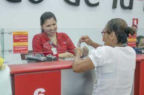 El Banco de la Nación (BN) atenderá mañana domingo 16 a los beneficiarios de Pensión 65, en un horario especial que regirá desde las 07:00 horas en las ciudades de Iquitos (Loreto), Huaraz (Áncash), Pucallpa (Ucayali) y Puno.