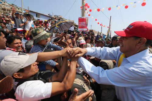 Presidente Vizcarra dio inicio al proyecto de agua potable y alcantarillado de la parte alta de Chorrillos