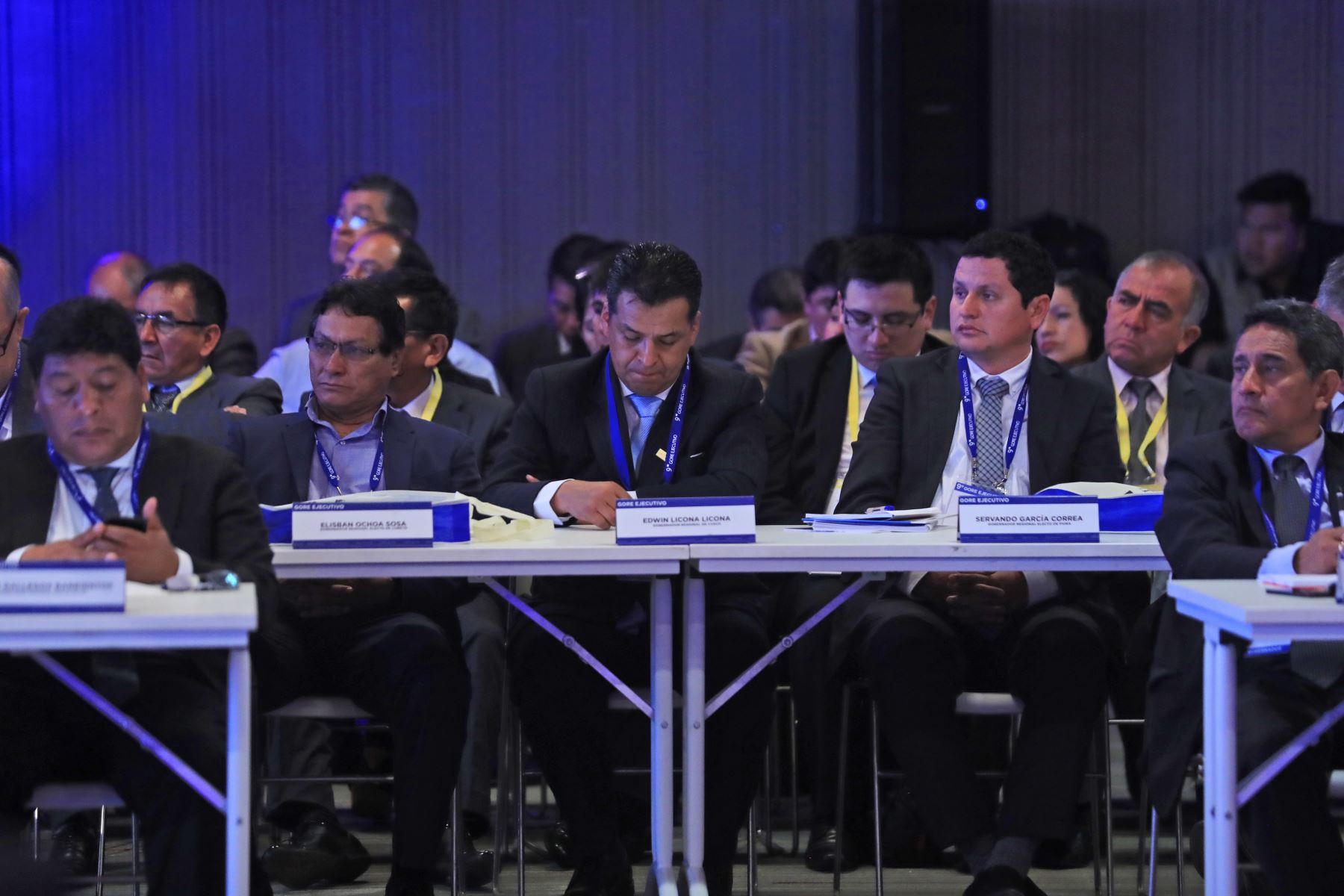 Presidente Vizcarra, junto al Jefe del Gabinete, Cesar Villanueva, dan inicio al Noveno Gore Ejecutivo, que se lleva a cabo en el Centro de Convenciones de Lima. Foto: ANDINA/Prensa Presidencia