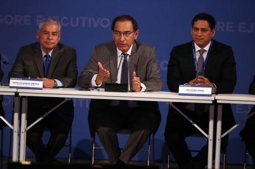 9º Gore Ejecutivo contó con la presencia del Presidente Vizcarra y Jefe del Gabinete