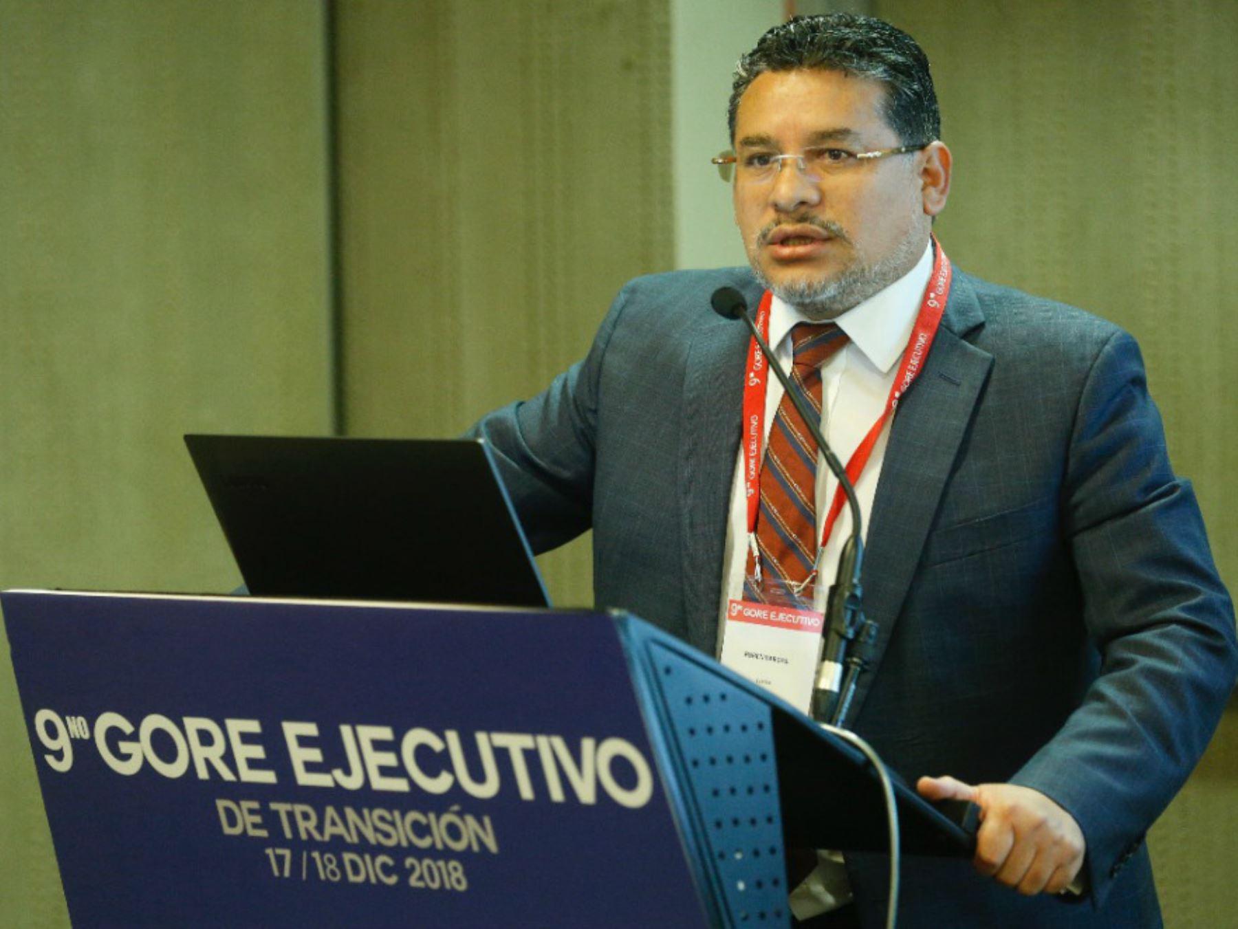 El presidente ejecutivo de la Comisión Nacional para el Desarrollo y Vida sin Drogas (Devida), Rubén Vargas.