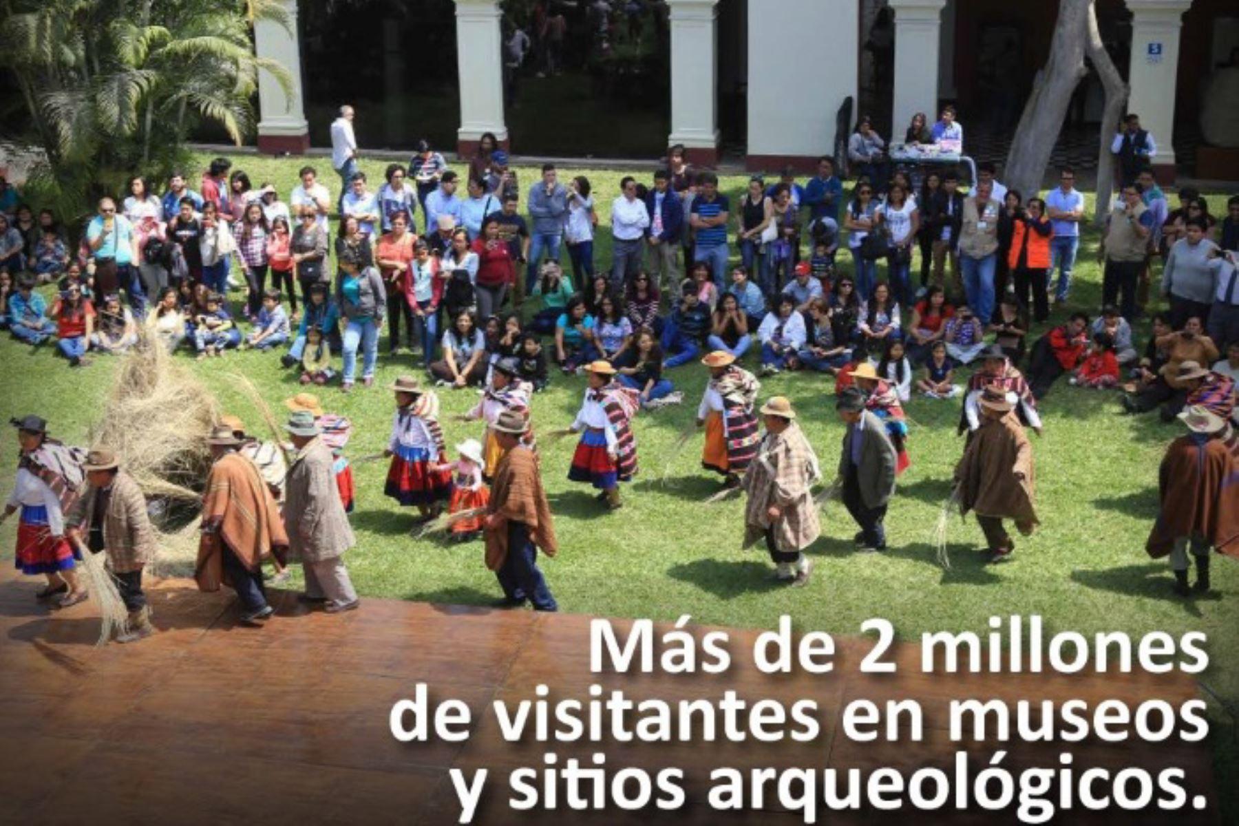 Ingreso gratuito a museos permitió más de 2 millones de visitas este año, informó el Ministerio de Cultura
