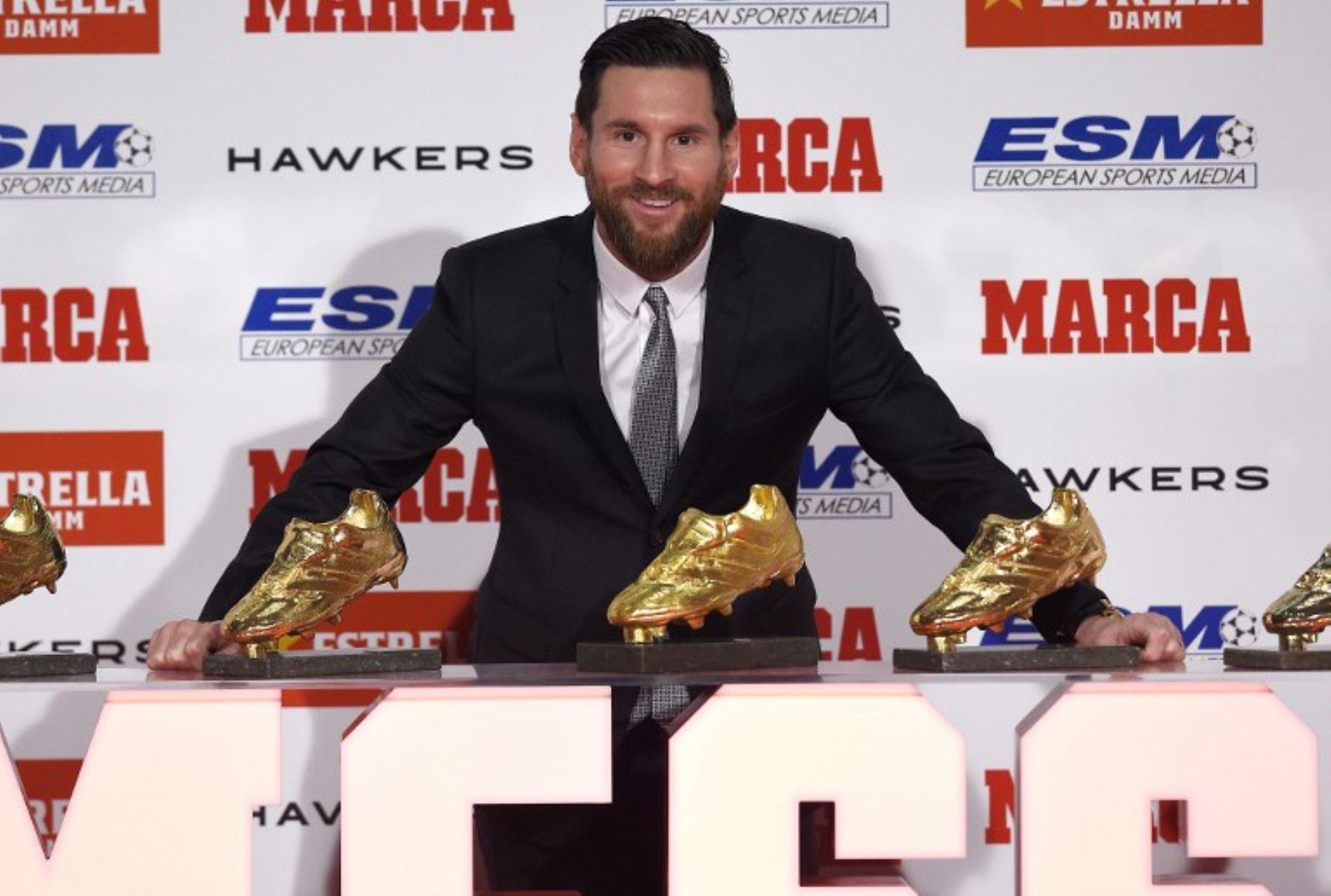 a2523769 Messi recibe su quinta Bota de Oro, el único jugador en conseguirlo ...