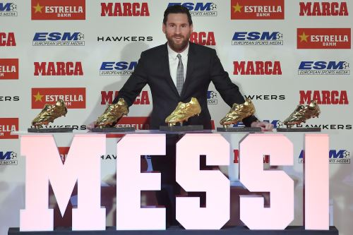 Leo Messi ganó su quinta Bota de Oro