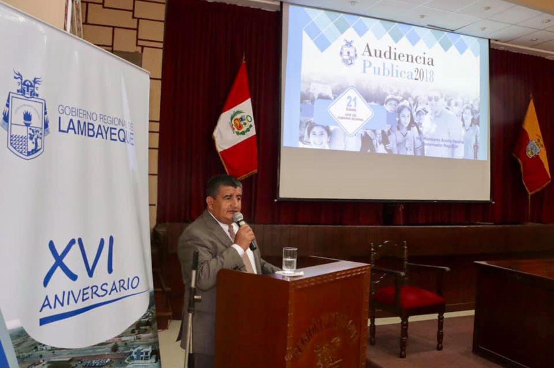 El gobernador regional de Lambayeque, Humberto Acuña, ofreció segunda y última audiencia pública regional de rendición de cuentas.