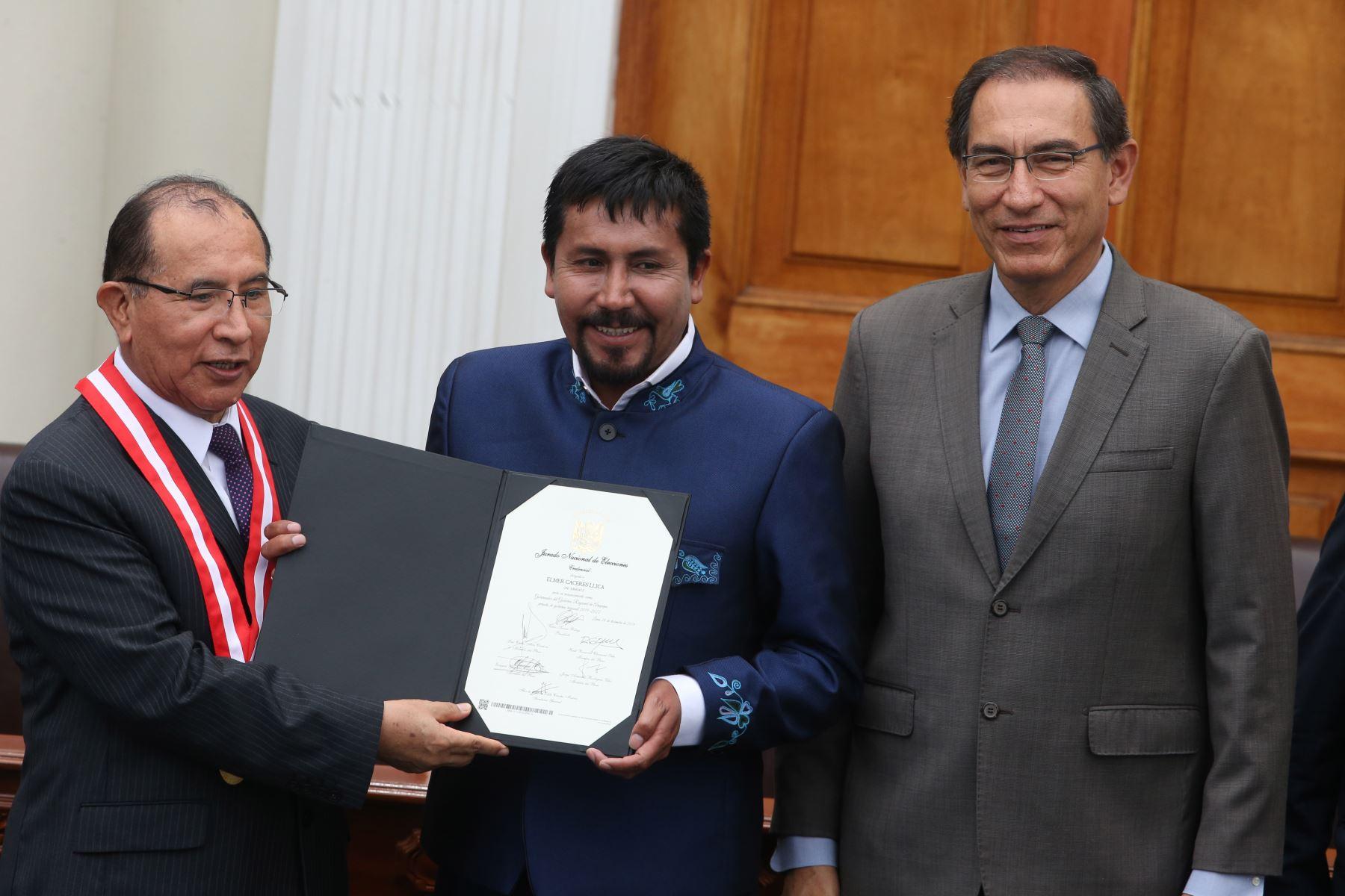 Elmer Cáceres Llica, conducirá el Gobierno Regional de Arequipa durante el período 2019-2022. Foto: ANDINA/Vidal Tarqui