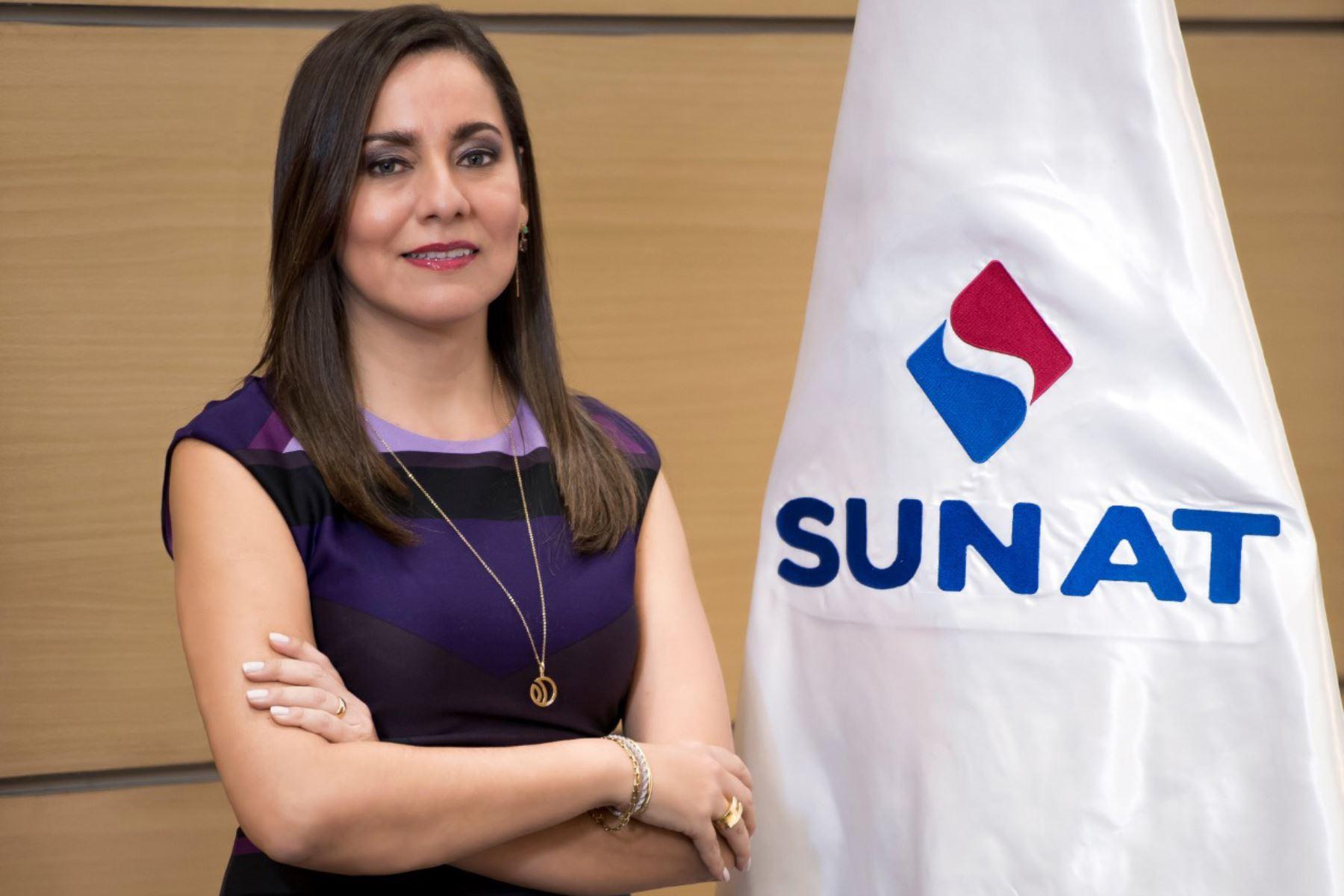 Jefe de la Sunat, Claudia Suárez Gutiérrez. ANDINA/Difusión
