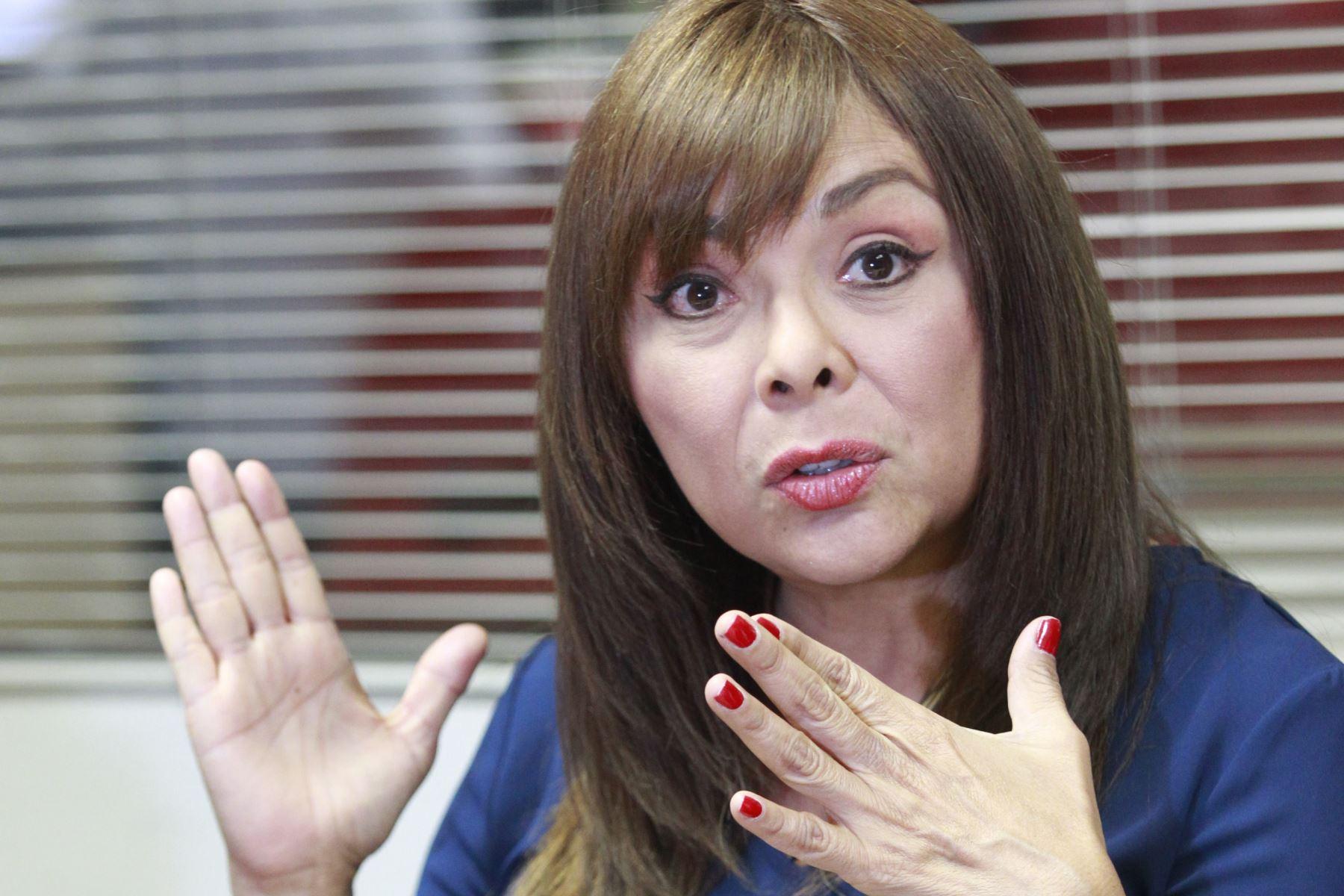 Ministra de Desarrollo e Inclusión Social, Liliana La Rosa. Foto: ANDINA/Jhony Laurente