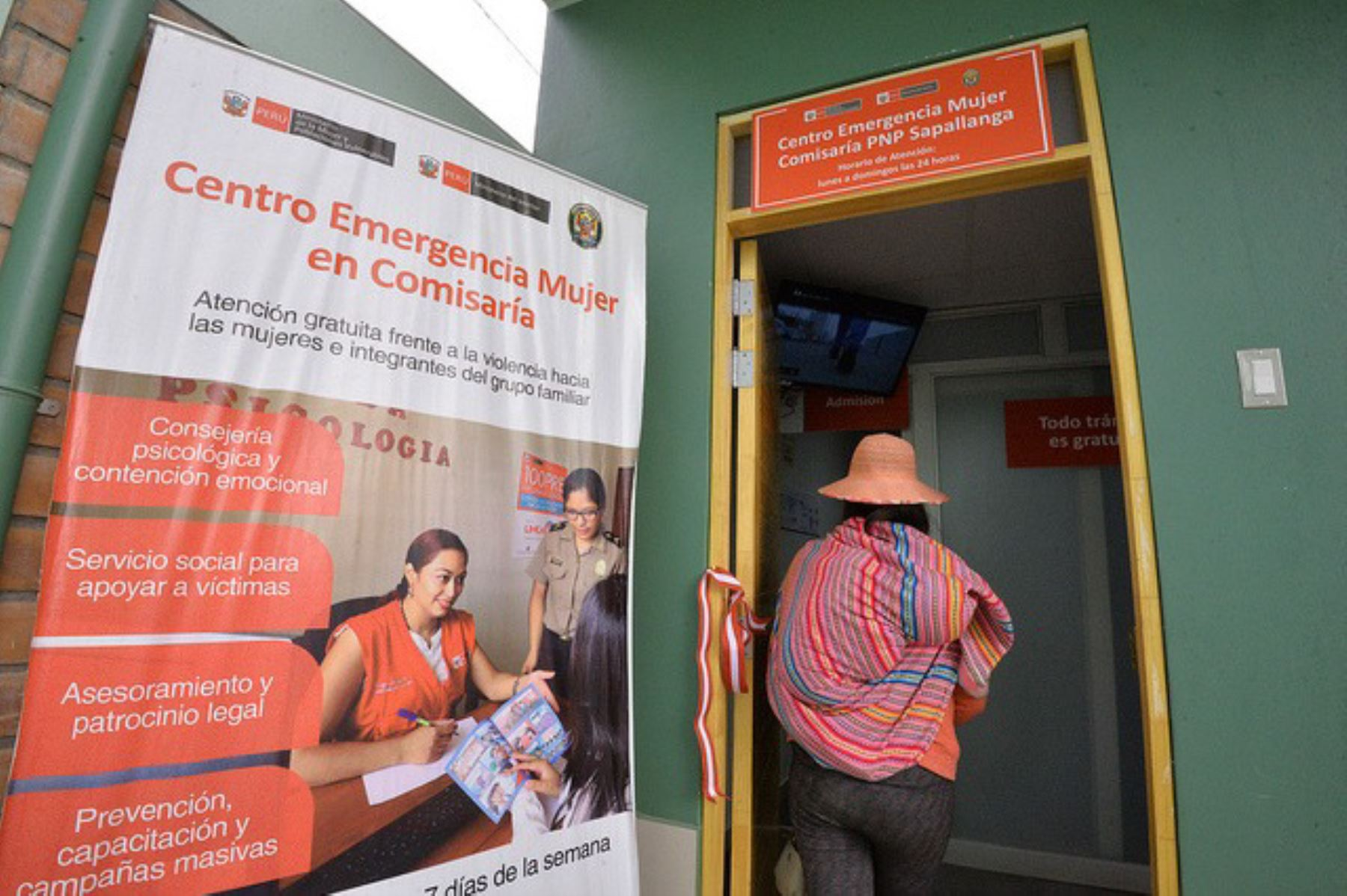 Centro de Emergencia Mujer número 100 inaugurado en el distrito de Sayán, provincia de Huaura. Foto: Andina/Difusión