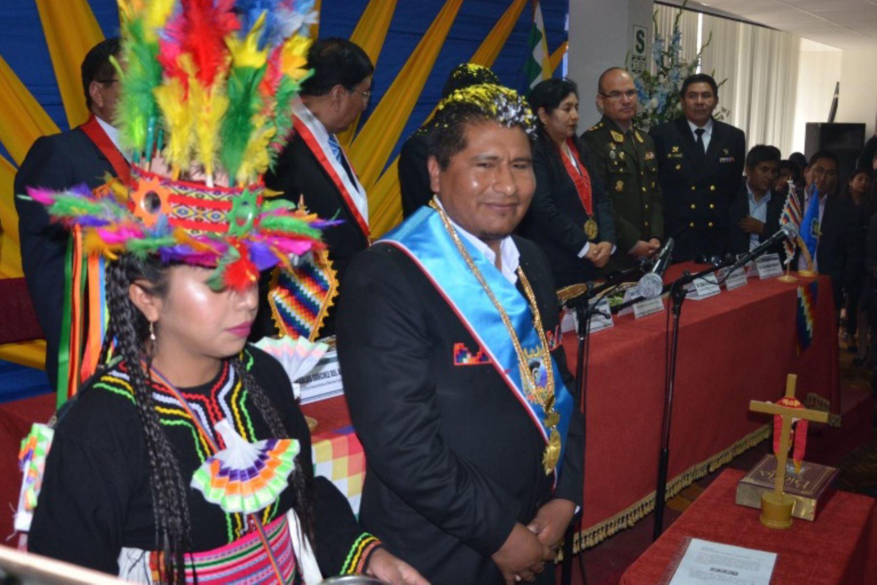 Wañter Adubiri como nuevo gobernador regional de Puno para el período 2019-2022. (Foto: Gobierno Regional de Puno)