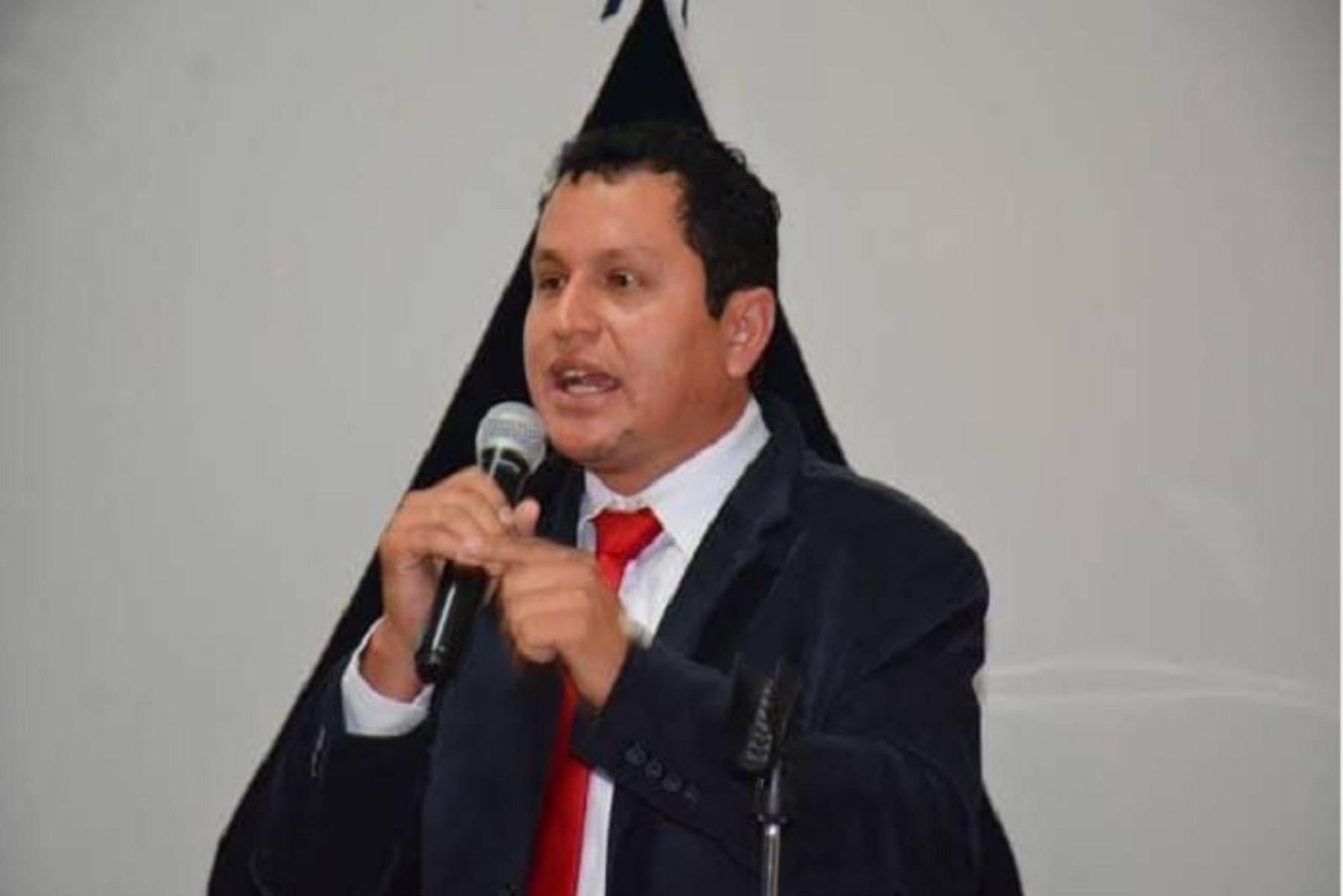 Gobernador regional de Piura y presidente de la Asamblea Nacional de Gobiernos Regionales (ANGR), Servando García. ANDINA/Difusión