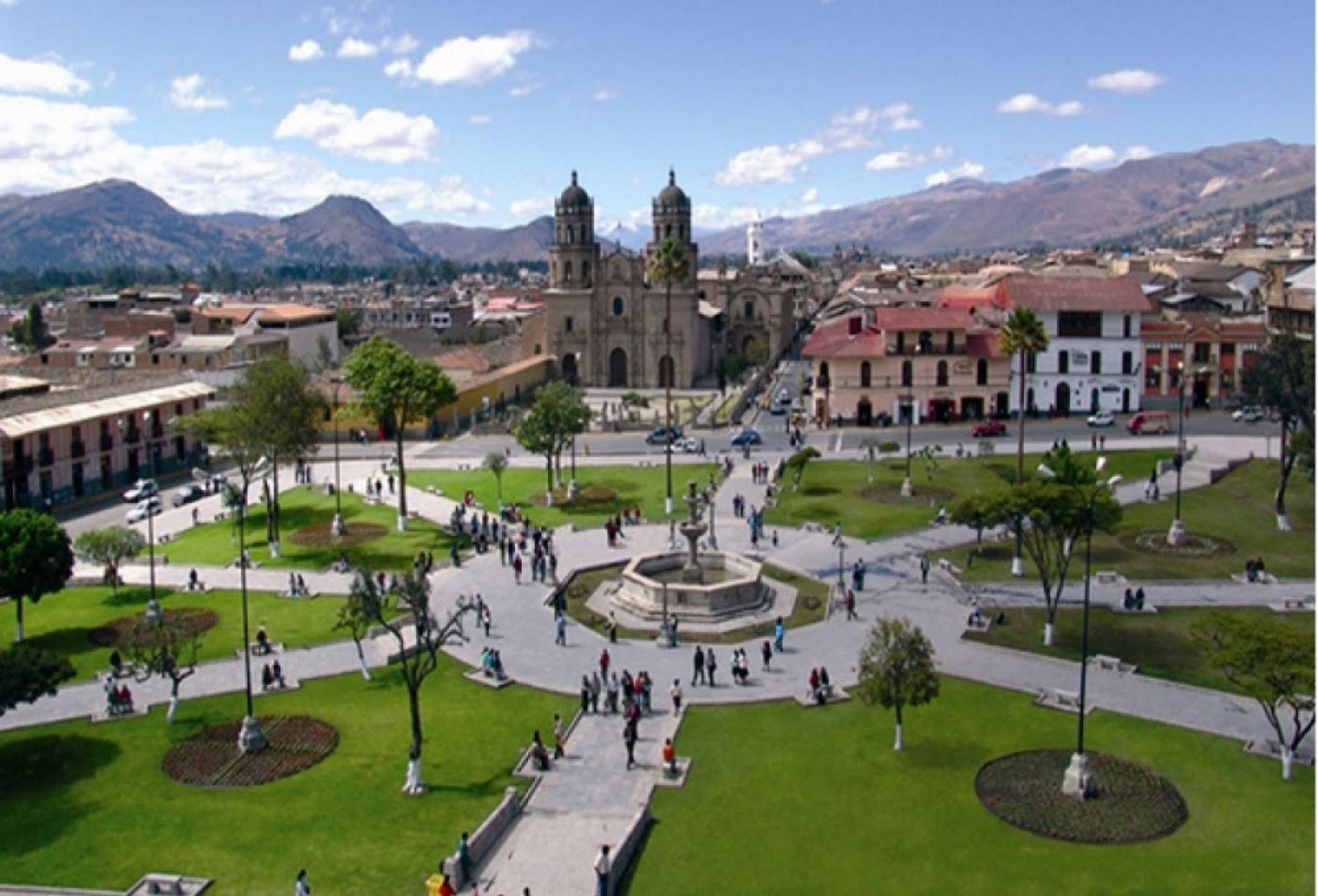 Plaza de Armas de Cajamarca, escenario de la captura del inca Atahualpa por parte del conquistador español Francisco Pizarro. ANDINA/Difusión