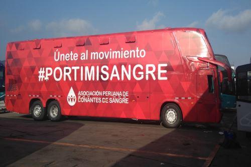 Bus itinerante para donación de sangre