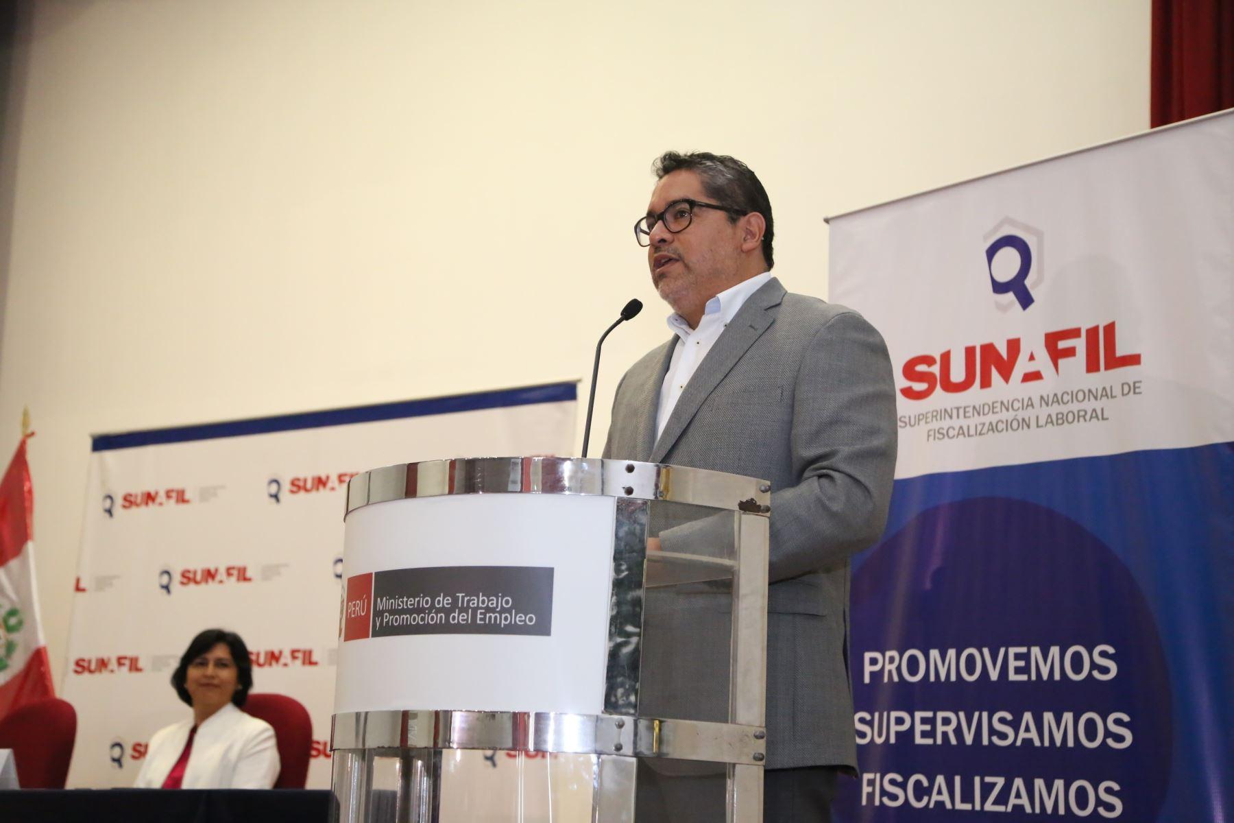 Superintendente Nacional de Fiscalización Laboral, Juan Carlos Requejo.
