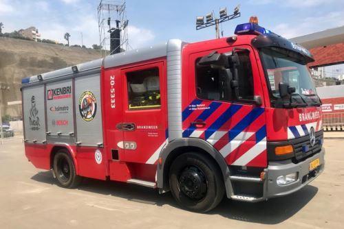El ministro de Comercio Exterior y Turismo, Edgar Vásquez, agradeció y felicitó hoy al equipo holandés Firemen Dakarteam que participa en el Rally Dakar 2019, por donar un camión contraincendios para el Cuerpo General de Bomberos Voluntarios del Perú (CGBVP).