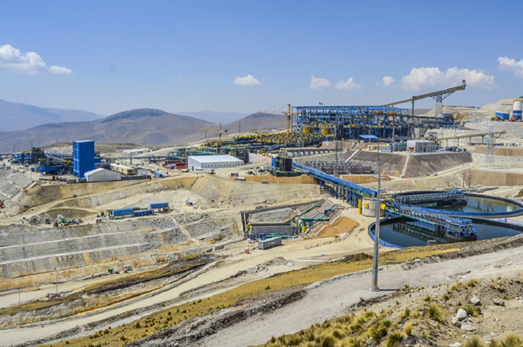 Infraestructura de procesamiento minero. Foto: Cortesía.