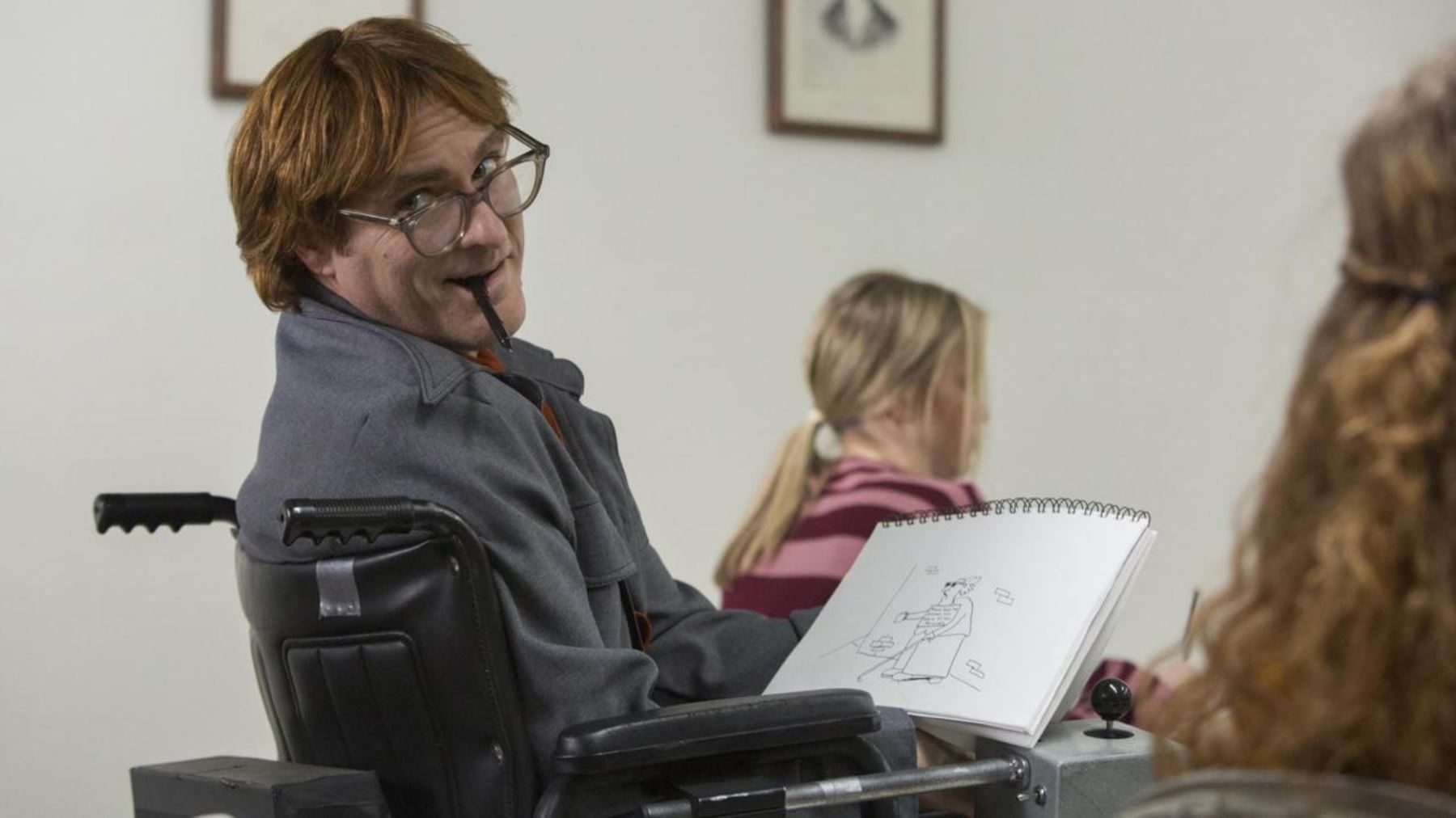 Joaquin Phoenix en No te preocupes, no llegará lejos de Gus Van Sant