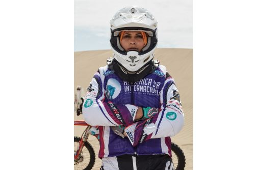 07/01/2019   Gianna Velarde, la primera mujer peruana en la categoría de motos. Foto: ANDINA/Difusión