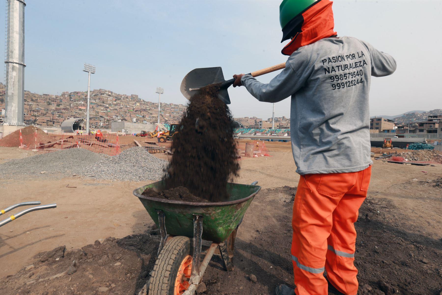 Avance de la construcción de  infraestructuras de las villas deportiva, en Villa Maria  del Triunfo; a ser usadas en los Juegos Panamericanos Lima 2019. Foto: ANDINA/Norman Córdova