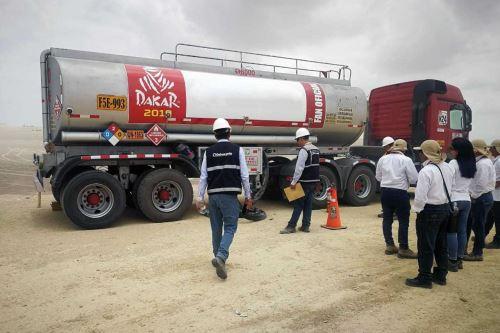Rally Dakar 2019: Osinergmin supervisa seguridad en abastecimiento de combustibles.