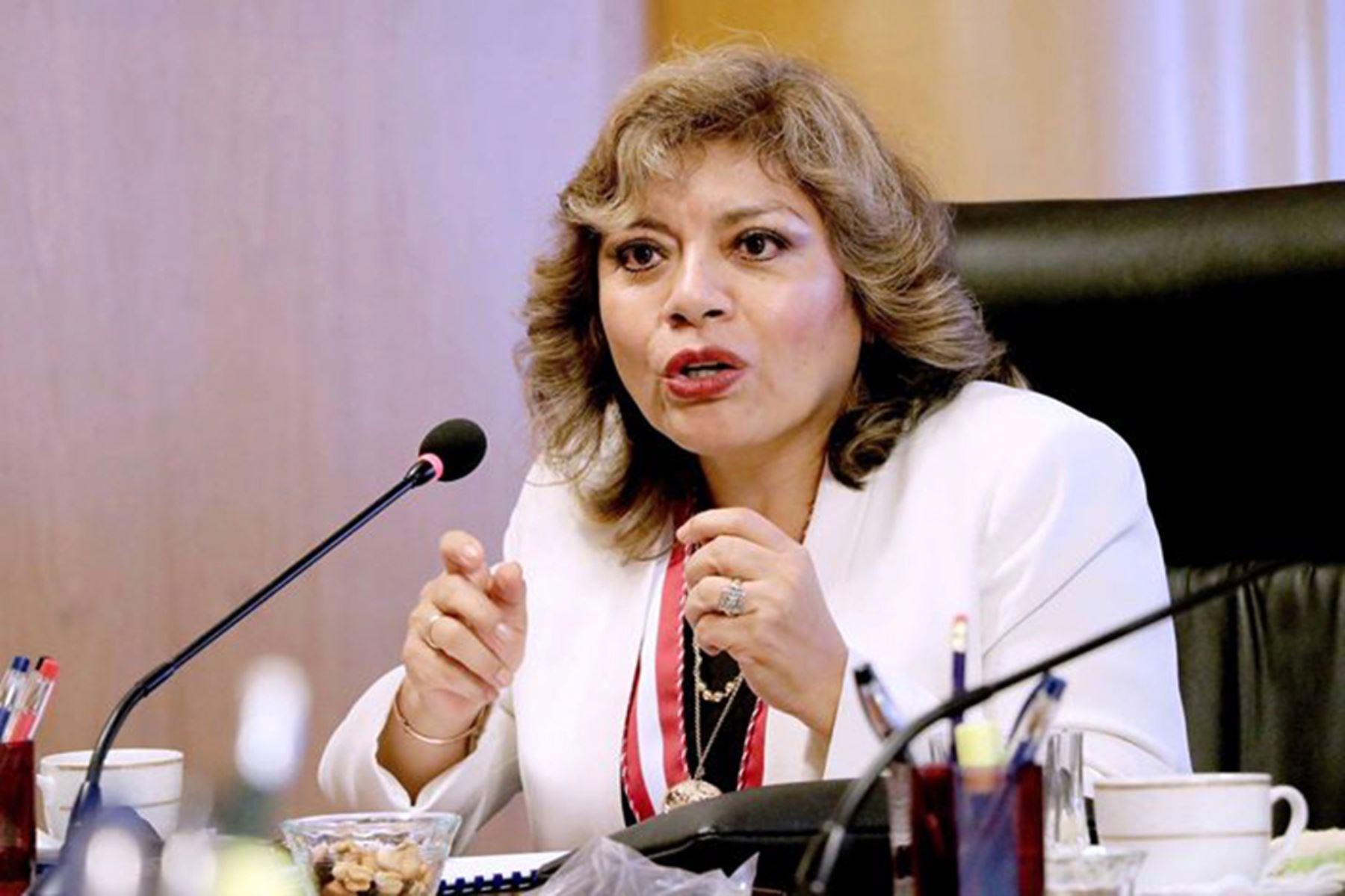 08/01/2019   La magistrada suprema Zoraida Ávalos Rivera asumió interinamente el cargo de fiscal de la Nación.Foto:ANDINA/Ministerio Publico