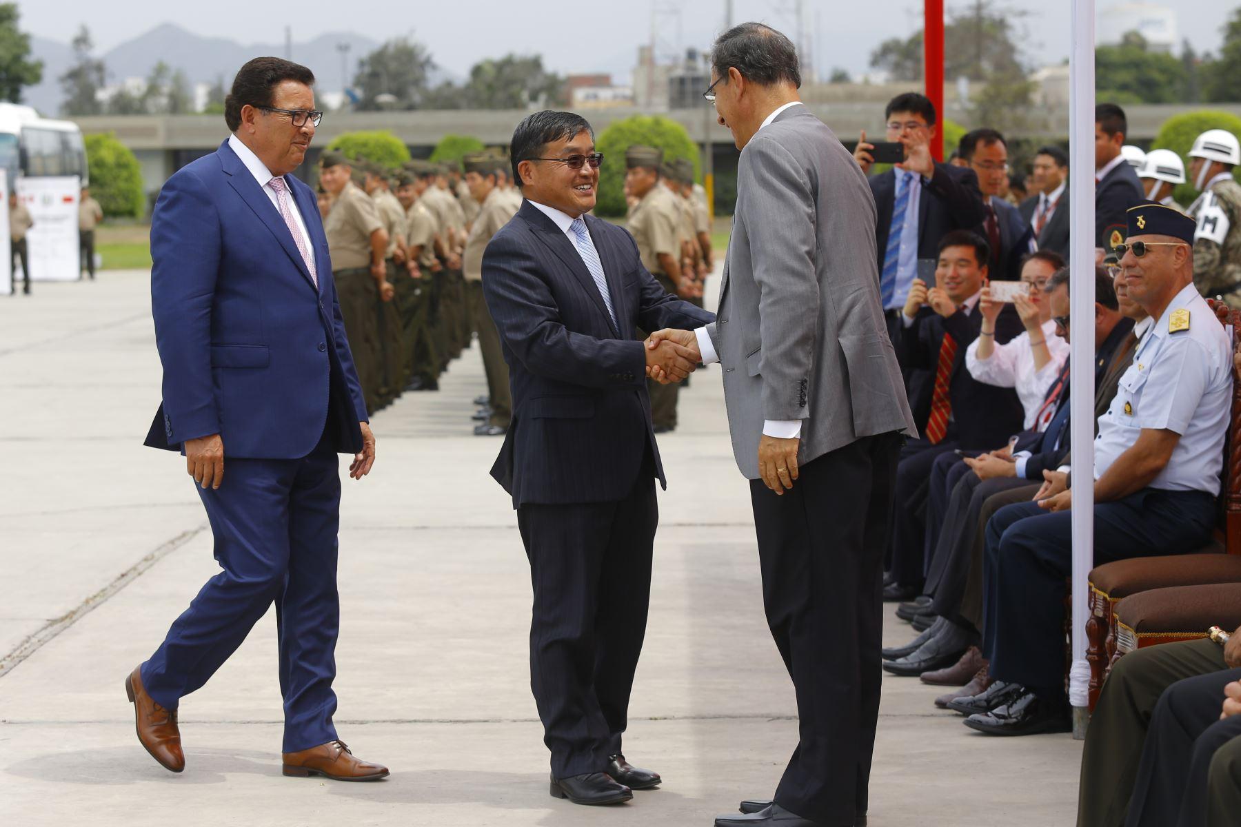 Jefe de Estado participa en la ceremonia de entrega de donación de la República Popular China a las Fuerzas Armadas. Foto: ANDINA/Prensa Presidencia