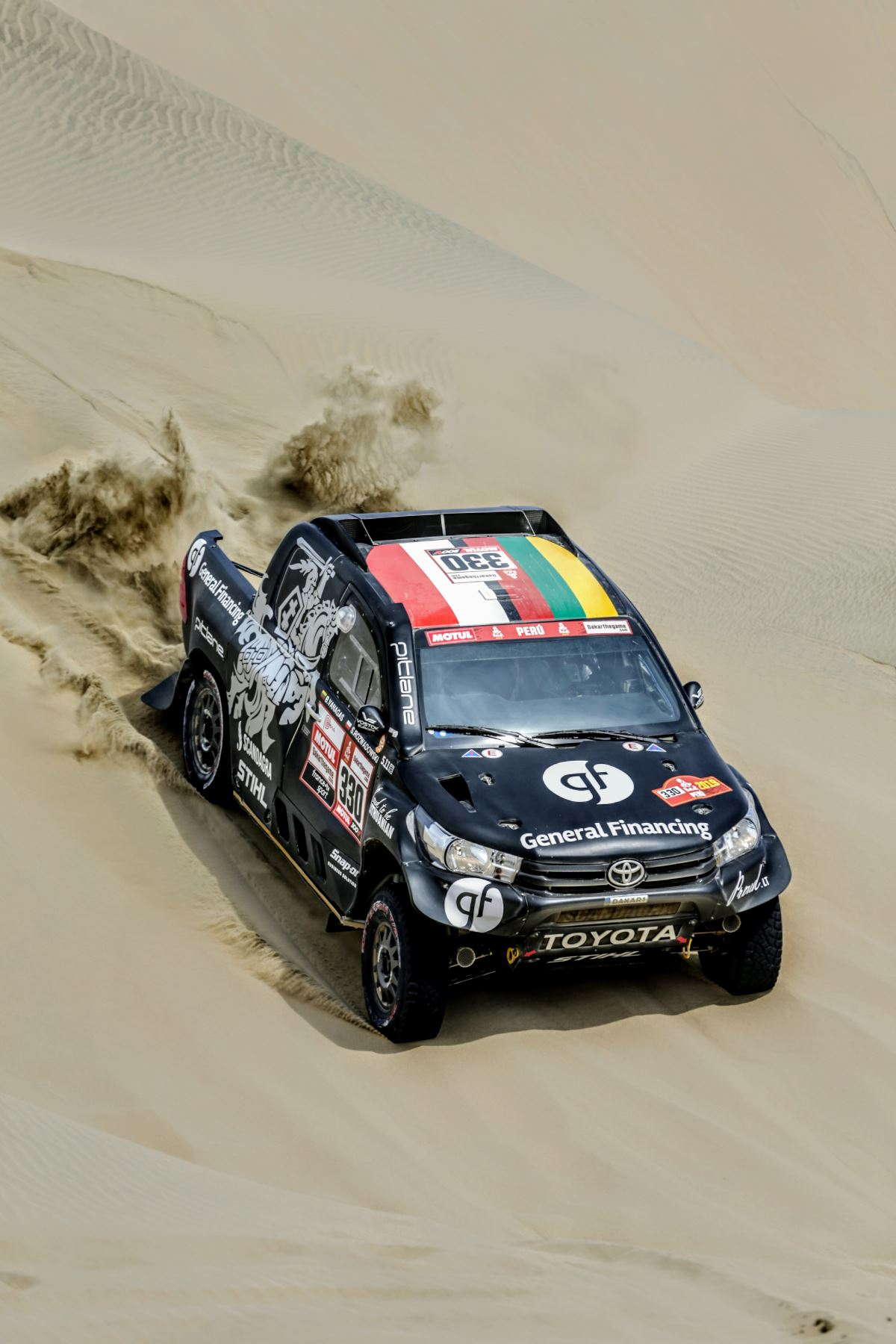 1º etapa de la ruta Marcona, Rally Dakar 2019. Foto: ANDINA/Luis Iparraguirre