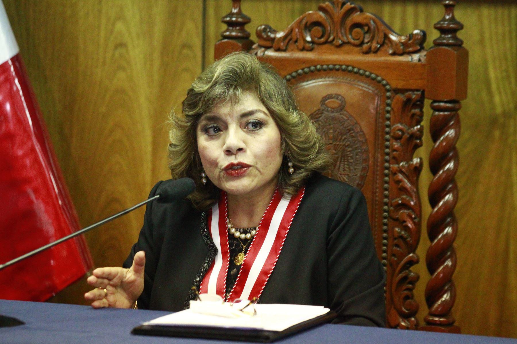 08/01/2019   Conferencia de Prensa de la nueva Fiscal de la Nación,Dra.Zoraida Avalos.Foto: ANDINA/Eddy Ramos