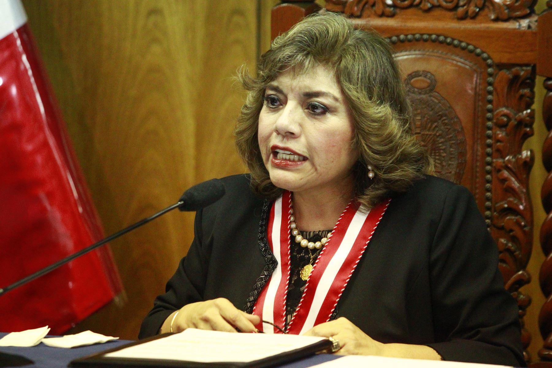 Fiscal de la Nación, Zoraida Avalos. ANDINA/Eddy Ramos