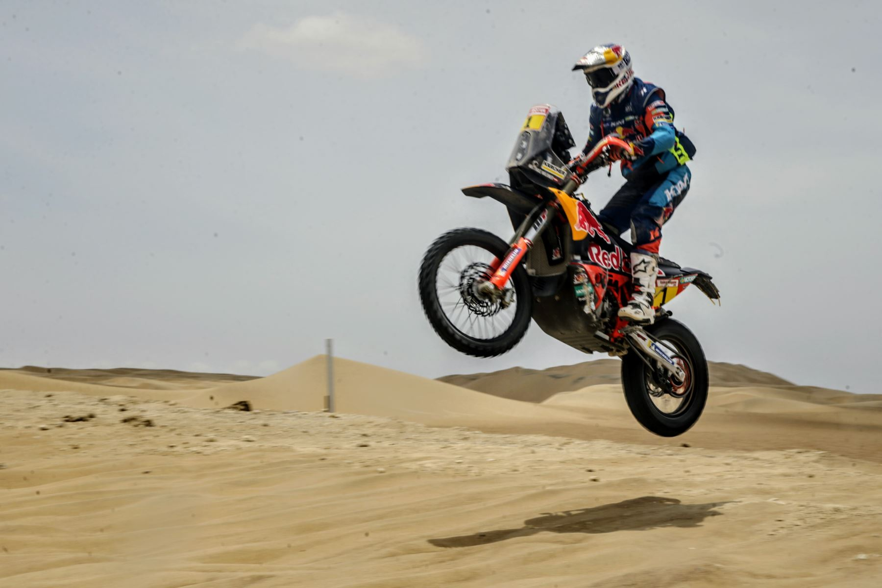 Segunda etapa de la ruta San Juan de Marcona del Rally Dakar 2019. Foto: ANDINA/Luis Iparraguirre