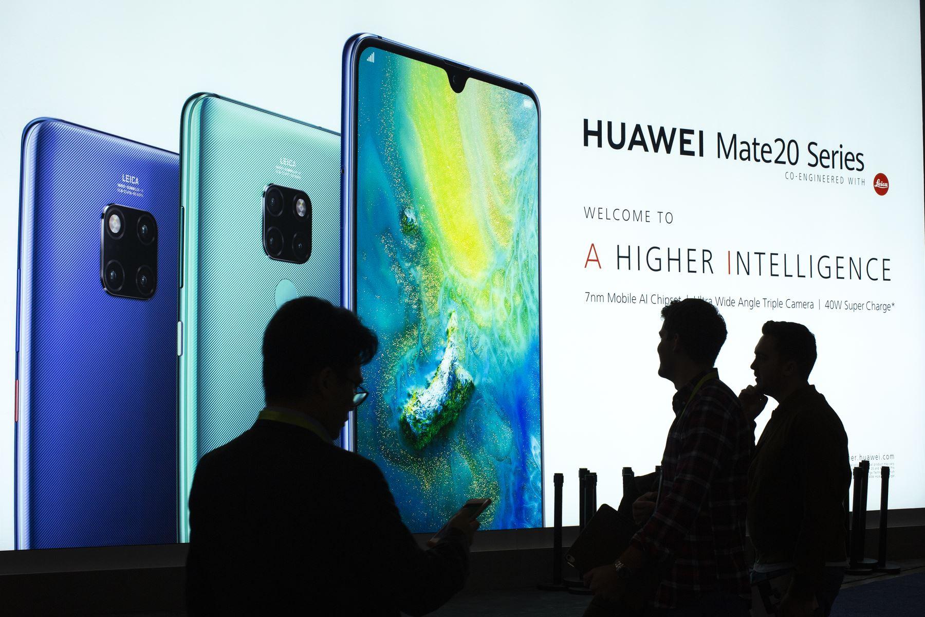 Celulares Huawei. Foto: AFP