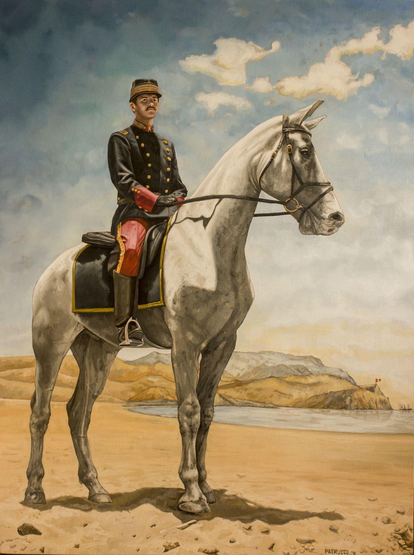 Alfonso Ugarte en un retrato elaborado por el pintor Pablo Patrucco. Foto: Cortesía