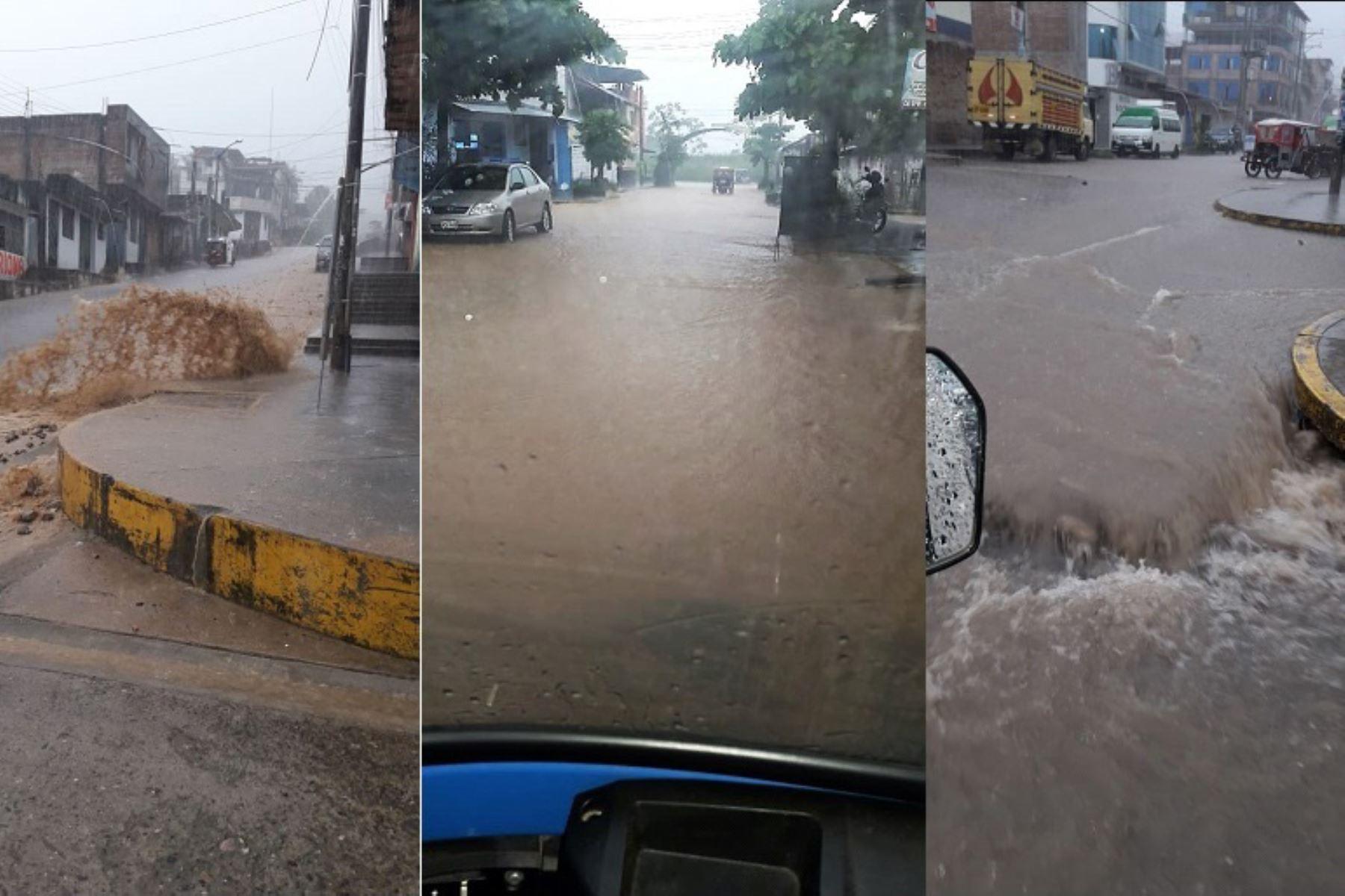 Lluvia intensa se registra ahora en distrito de Pichanaki, en Junín. Foto: C. Madueño/Senamhi/Twitter