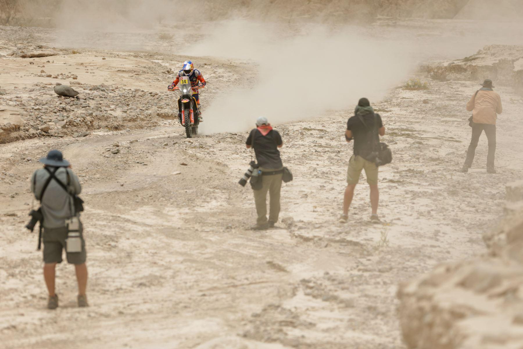 Cuarto día del Rally Dakar 2019, desde Arequipa en modo marathon dentro del desierto de Moquegua. Foto: ANDINA/Luis Iparraguirre