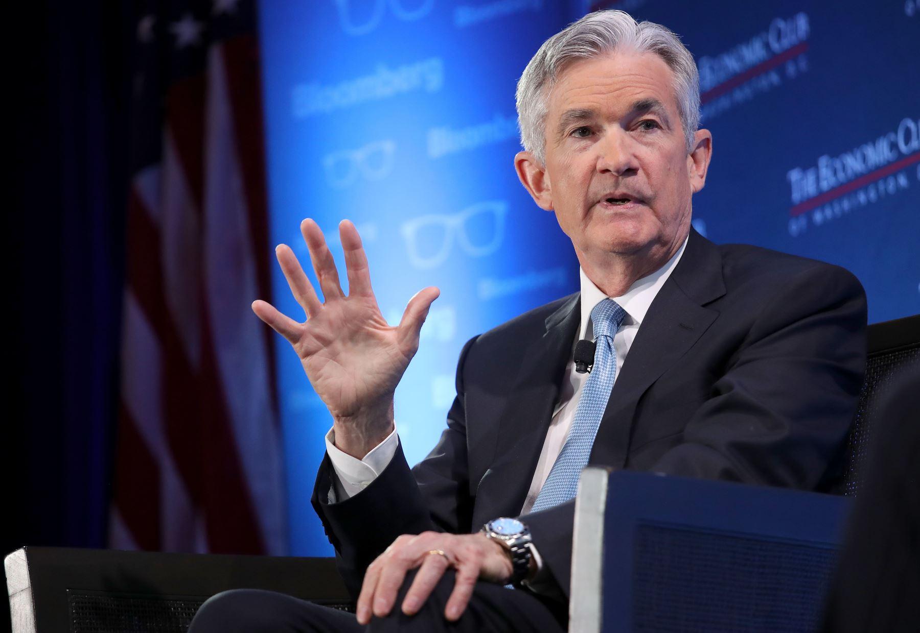 Presidente de la Reserva Federal de Estados Unidos, Jerome Powell. Foto: AFP.