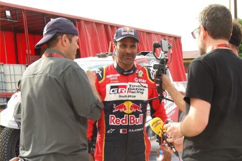 Piloto catarí Nasser Al-Attiyah. Foto: Lenin Lobatón/Andina.