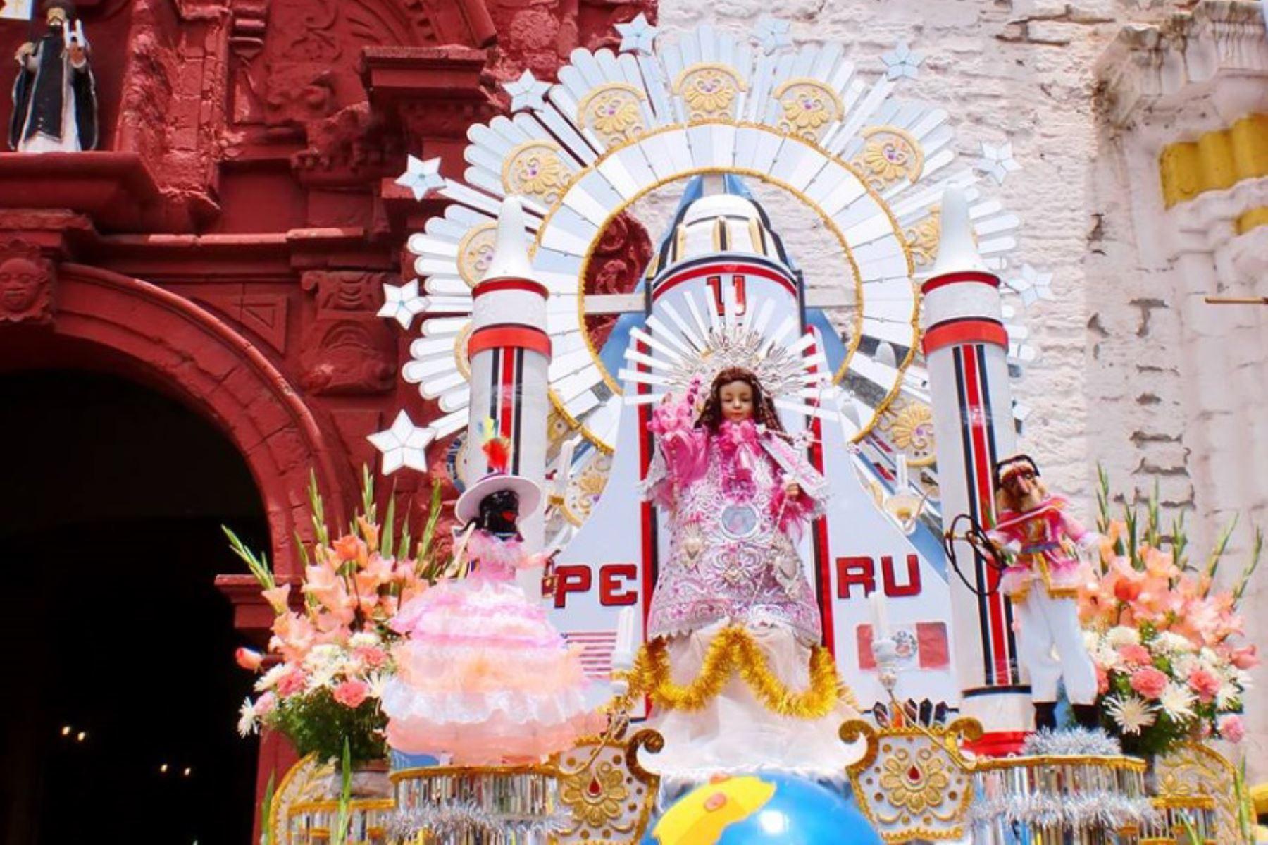 Festividad del Niño Dulce Nombre de Jesús, también conocido como Niño Perdido, en la ciudad de Huancavelica.