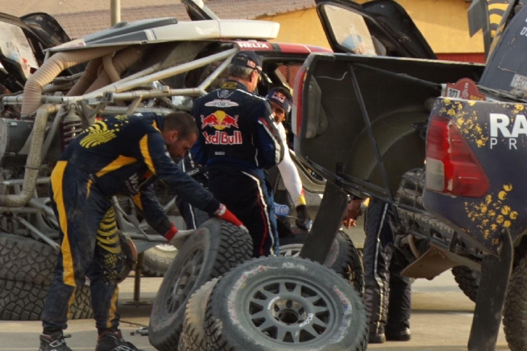 Carlos Sainz, vigente campeón del Dakar. Foto: Lenin Lobatón/Andina.