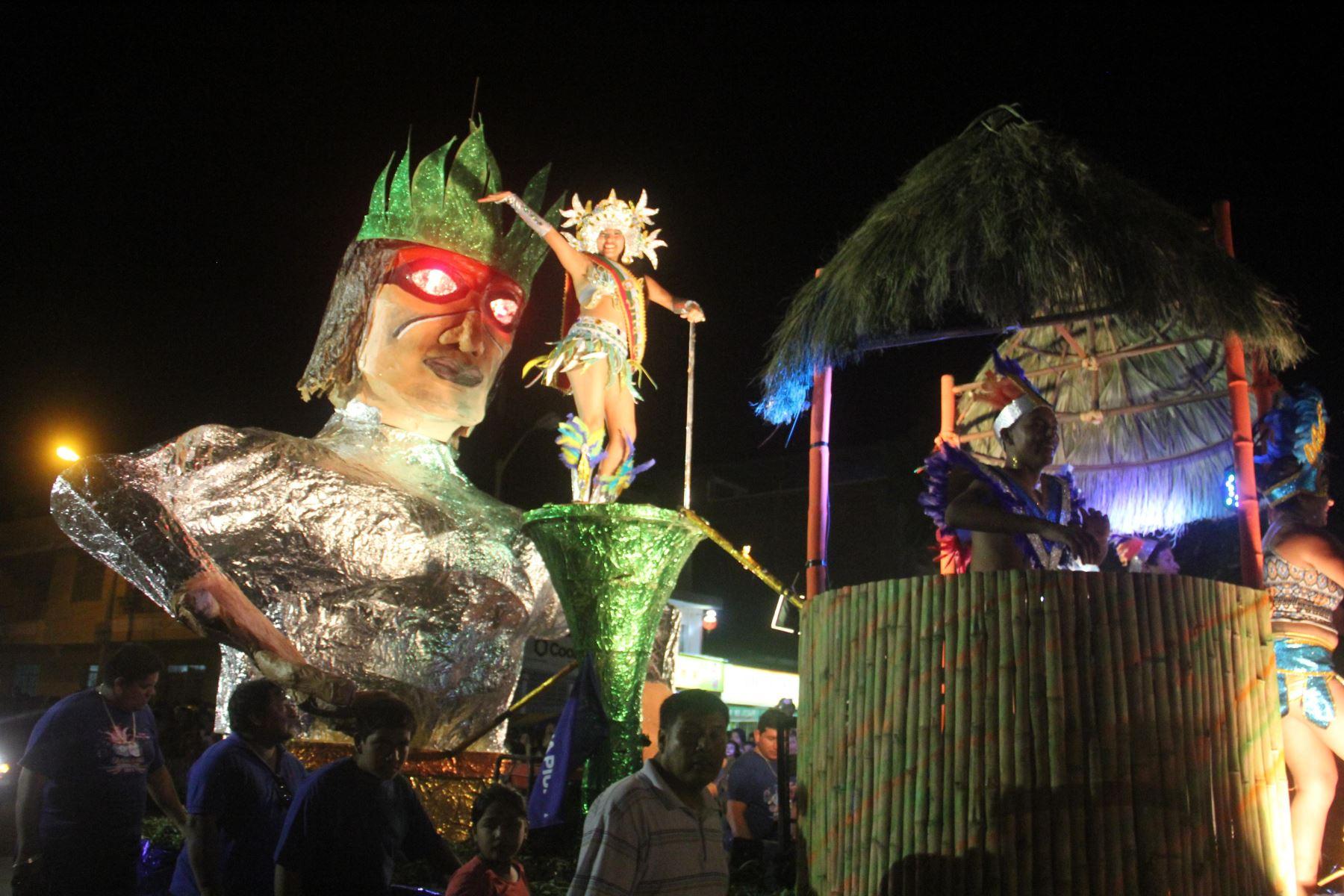 Piura inicia el domingo 20 de enero los festejos de su tradicional carnaval en Catacaos. ANDINA