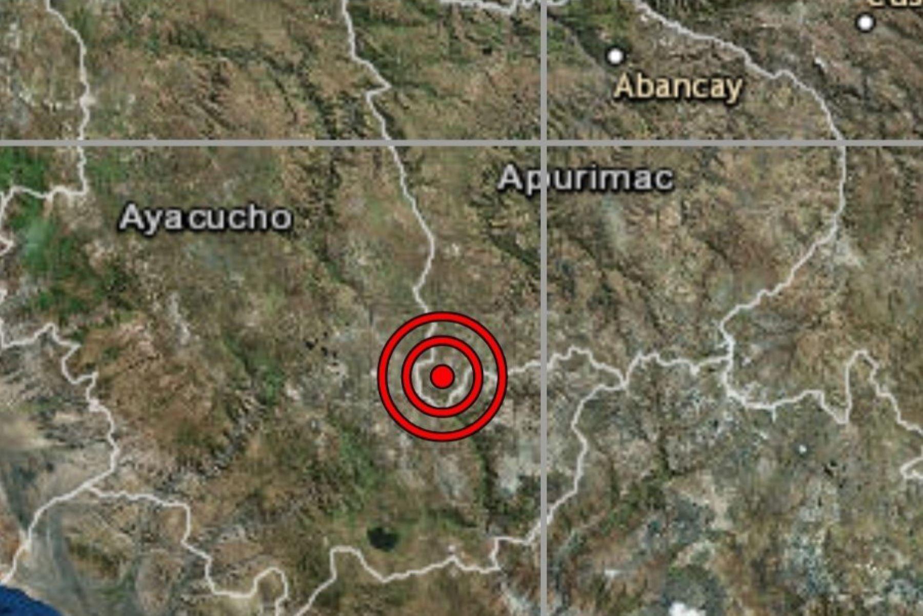 Ayacucho registra sismo de magnitud 3.6 sin provocar daños