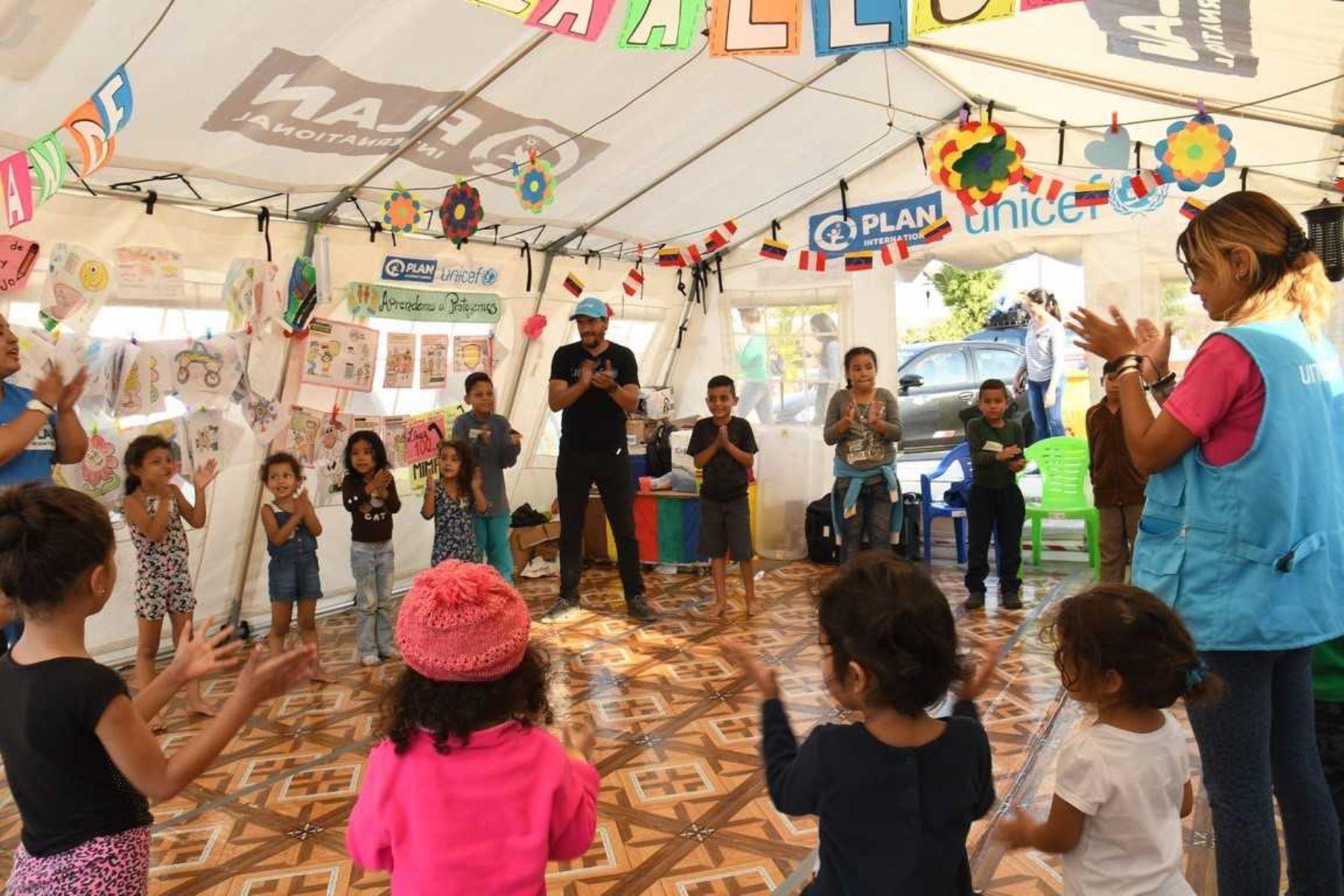 Más de 11,000 niños venezolanos recibieron apoyo socioemocional al ingresar al Perú