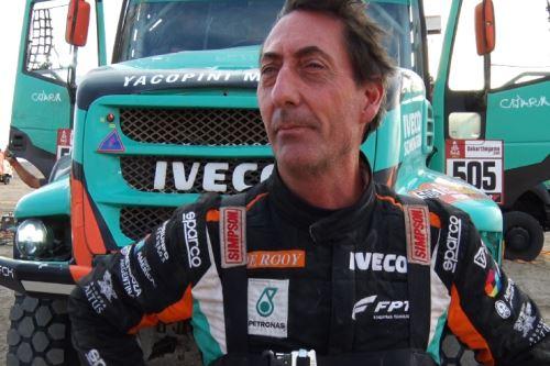 Piloto argentino de camiones, Federico Villagra. Foto: Lenin Lobatón/Andina.