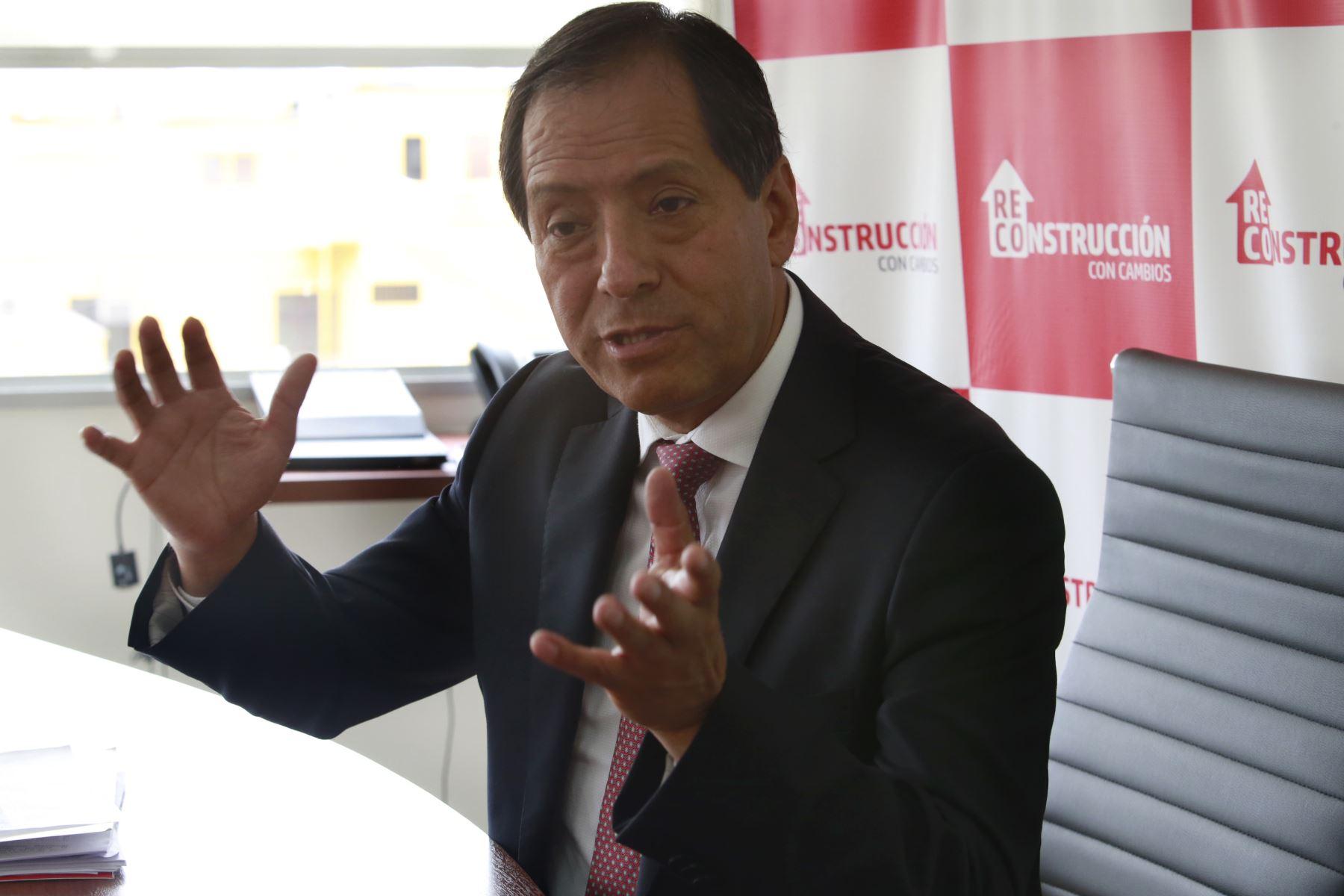 Director ejecutivo de la Autoridad para la Reconstrucción con Cambios, Edgar Quispe. ANDINA/Nathalie Sayago