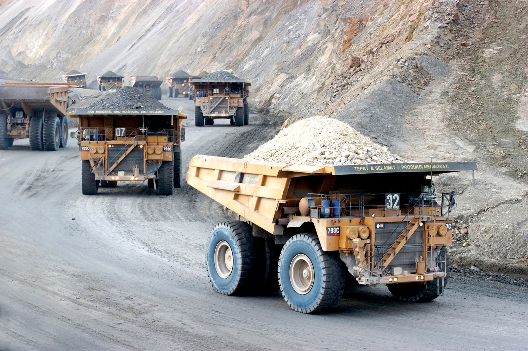 Actividad minera. Foto: AFP
