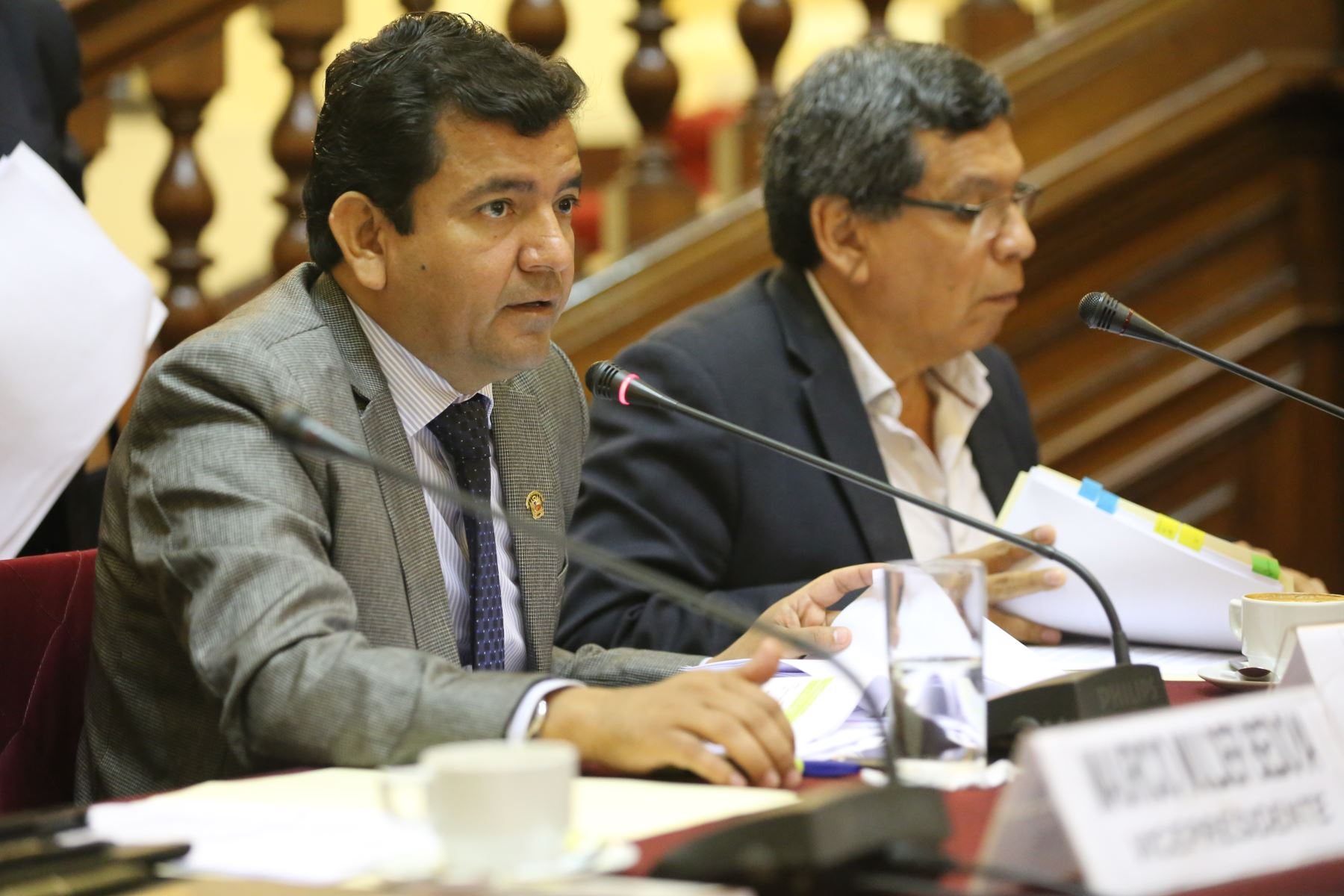 Comisión de Fiscalización del Congreso, presidido por el congresista  Luis López Vilela (FP)