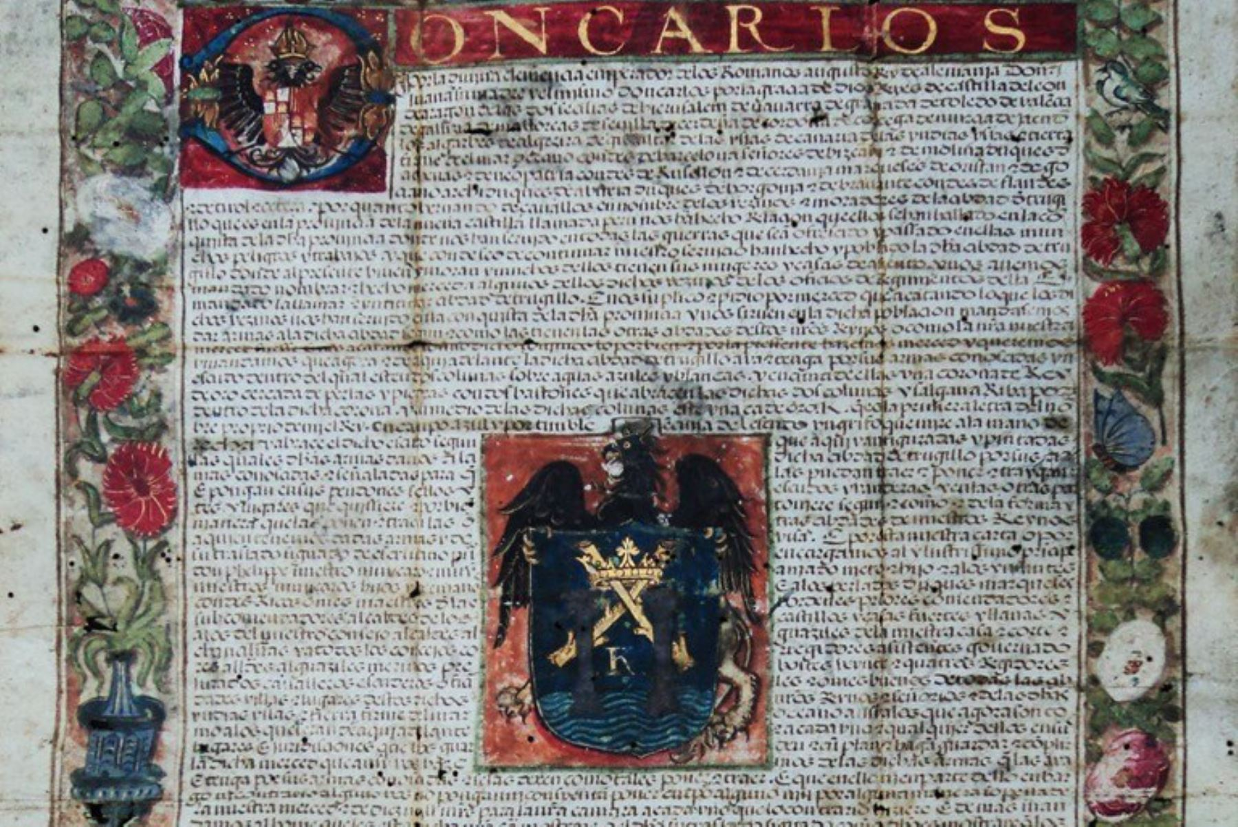 El Ministerio de Cultura declaró como Patrimonio Cultural de la Nación a la Real Cédula que otorga el Escudo de Armas a la ciudad de Trujillo, capital del departamento de La Libertad.