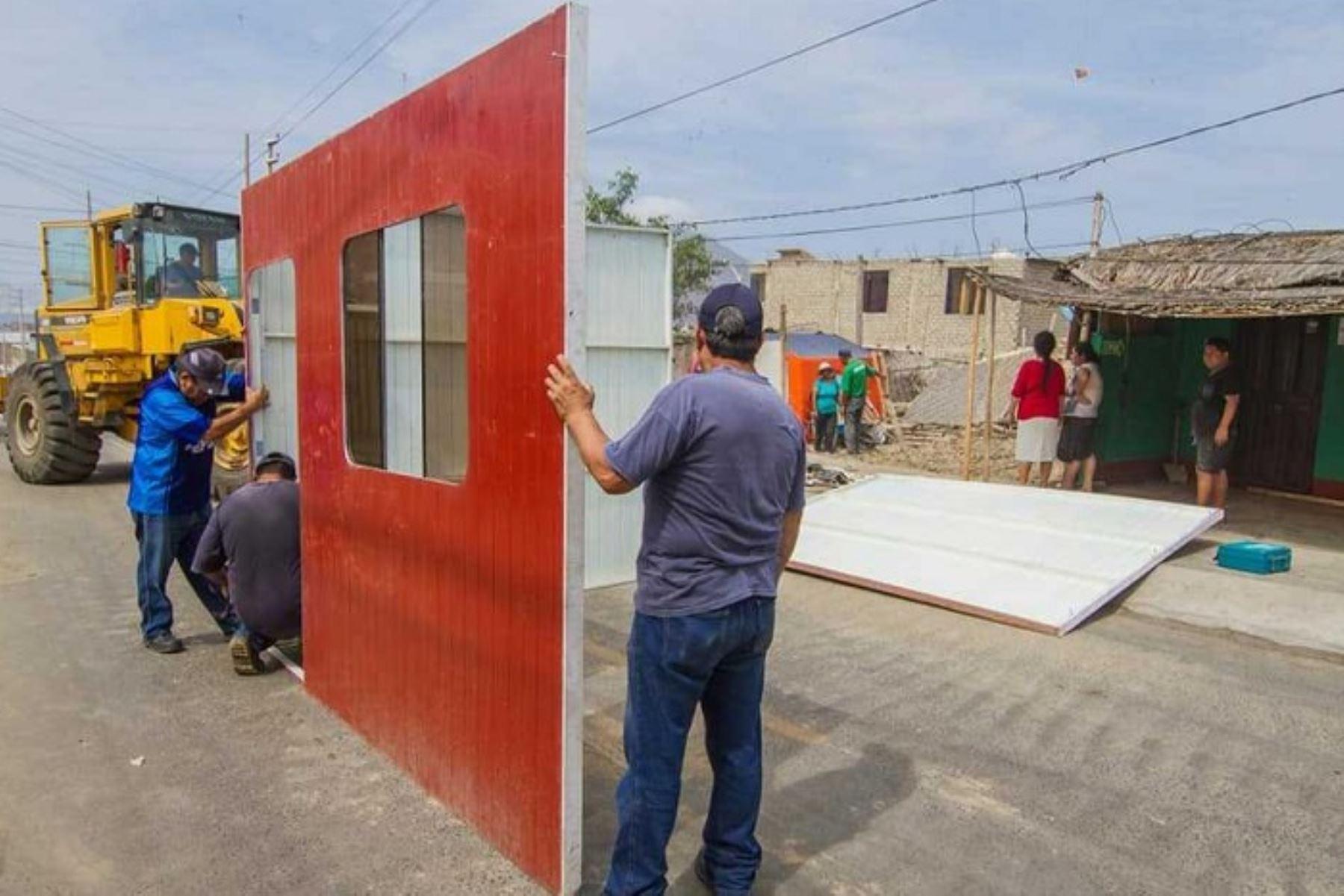 Cusco Trasladarán Casas Prefabricadas Para Damnificados De