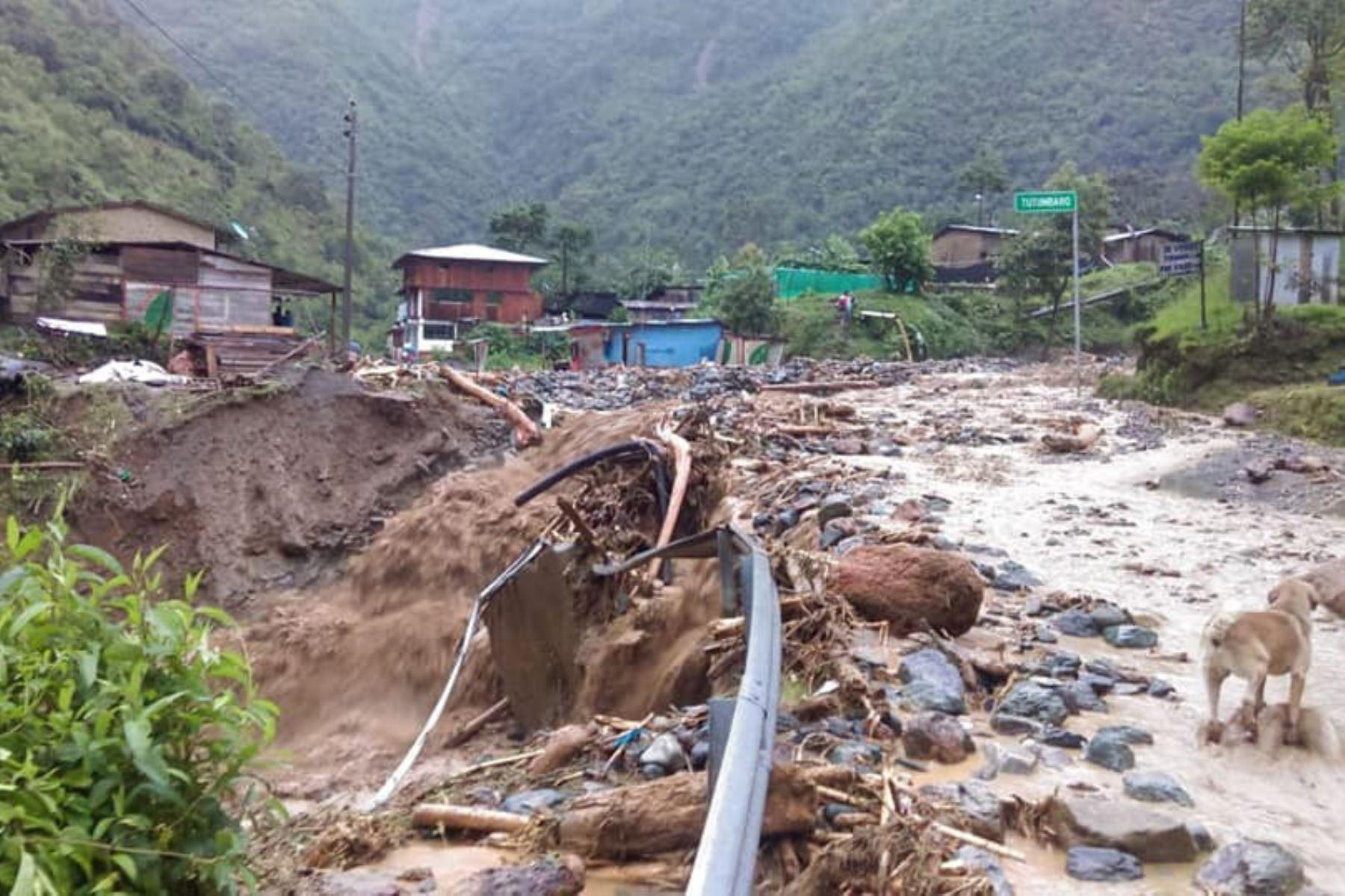 ANDINA/DifusiónCuatro desaparecidos y 20 viviendas destruidas deja caída de huaico en Ayacucho. ANDINA/Difusión