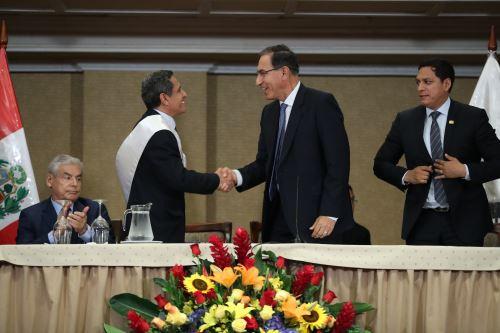 Presidente Vizcarra saluda al nuevo presidente de la ANGR