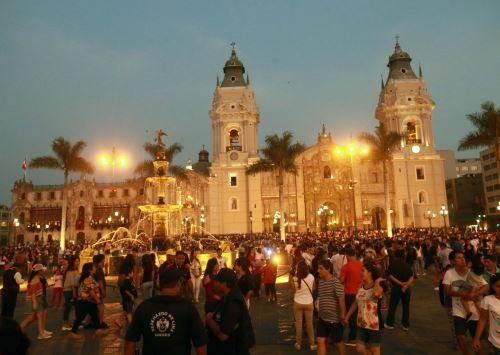 Plaza de Armas de Lima.